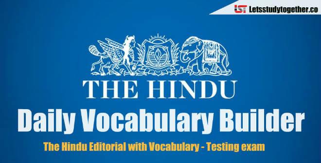 Daily Vocabulary Builder PDF - 3rd April 2018