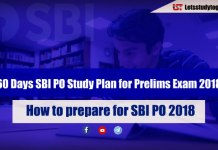 60 Days SBI PO Study Plan for Prelims Exam 2018