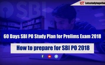 60 Days SBI PO Study Plan for Prelims Exam 2018