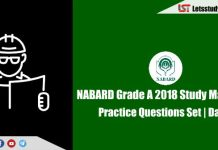 NABARD Grade A 2018 Study Material – Attempt Practice Questions Set | Day-5