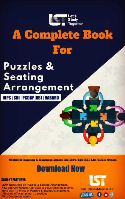 200+ New pattern Puzzle & seating Arrangement PDF for Bank Exams
