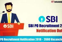 SBI PO Recruitment Notification 2018 - Exam Dates, Notification, Vacancies Details