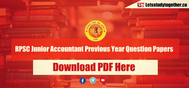RPSC Junior Accountant Previous Year Question Papers