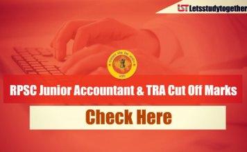 RPSC Junior Accountant & TRA Cut Off Marks 2013