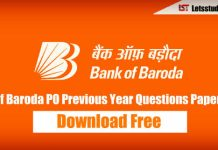 Bank of Baroda (BOB) PO Previous Year Question Paper PDF – Download Here