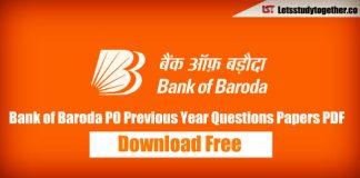 Bank of Baroda (BOB) PO Previous Year Question Paper PDF – Download Here