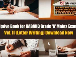 Descriptive Book for NABARD Grade 'A' Mains Exam 2018 – Vol. II (Letter Writing)