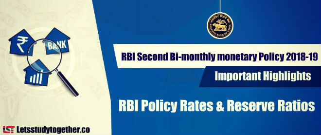 RBI Second Bi-monthly monetary Policy 2018-19 | Important Highlights