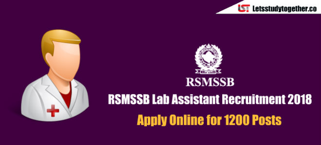 RSMSSB Lab Assistant Recruitment 2018 – Apply Online for 1200 Posts