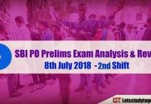 SBI PO Exam Analysis 8th July 2018 ( 2nd Shift)