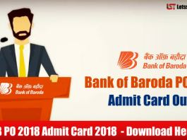 Bank of Baroda PO (PGDBF) Admit Card 2018 – Download Here
