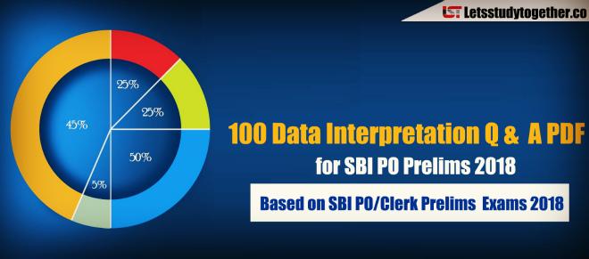 Data Interpretation PDF for SBI PO Prelims 2018 - Based on SBI PO/Clerk Exams 2018