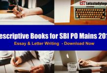 Descriptive Books for SBI PO Mains – Descriptive Study Material for SBI PO Essay & Letter Writing