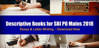 Descriptive Books for SBI PO Mains – Descriptive Study Material for SBI PO Essay & Letter Writing