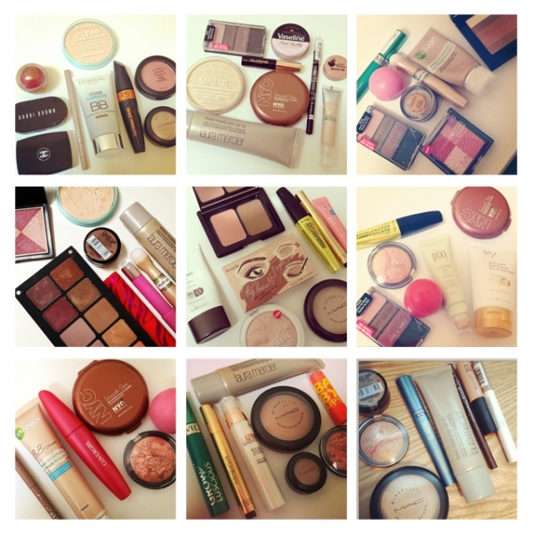 Grid of Makeup August