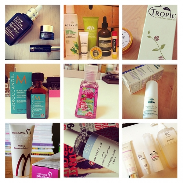 Grid of Skincare
