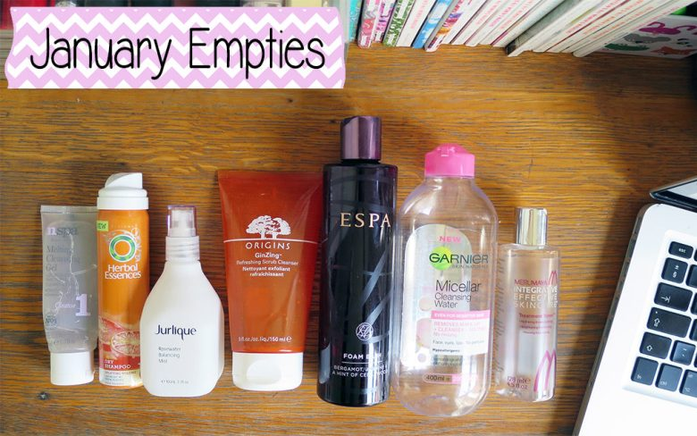 January Empty Products