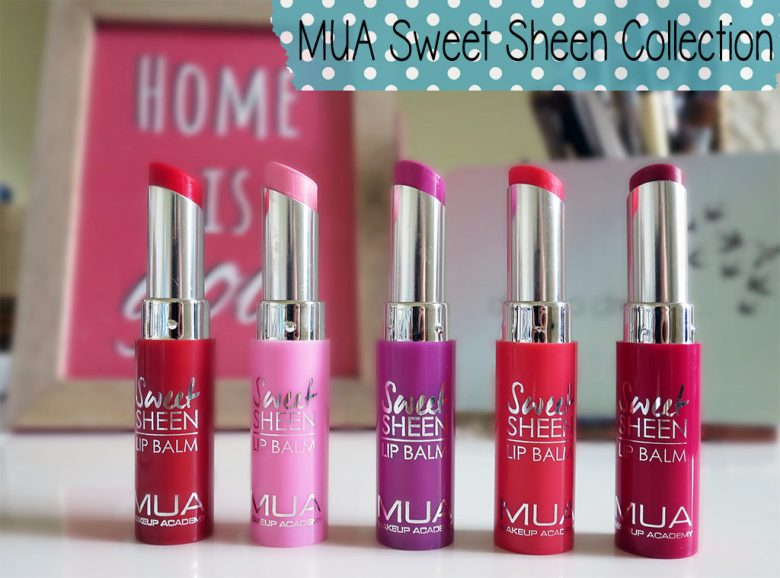 MUA Sweet Sheen Lip balms