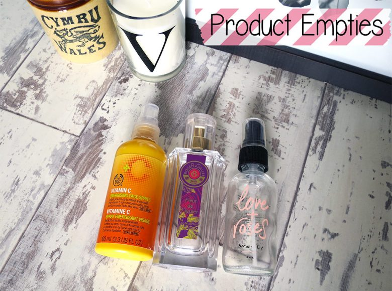 Beauty Product Empties Oct 2015