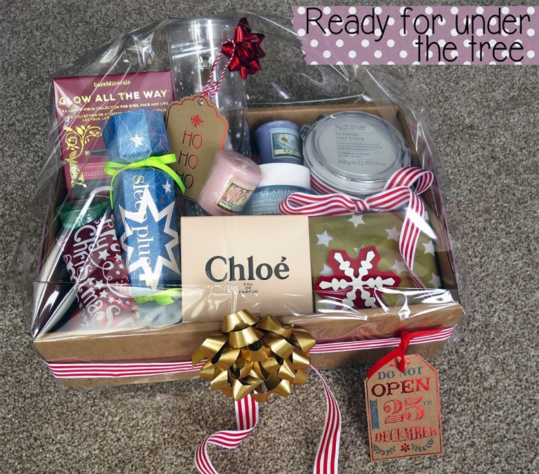Finished DIY Beauty Hamper