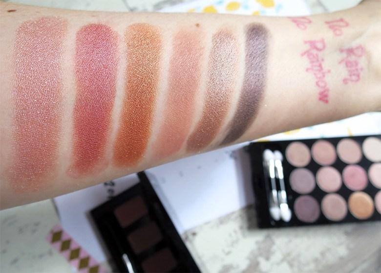 Skinn Rosette Eyeshadow Palette Swatches