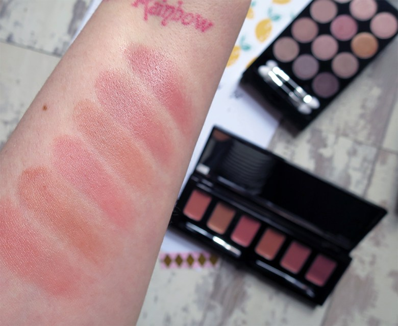 Skinn Hollywood Nude Lip Palette Swatches