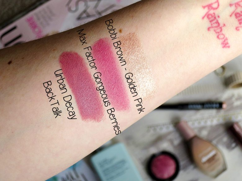 July favourite products swatches