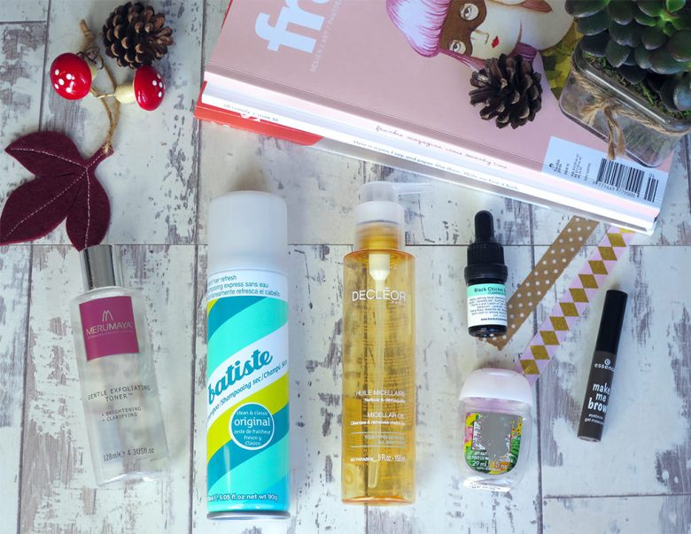 September 2016 Product Empties