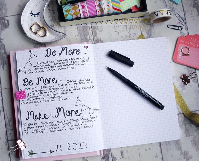 Positive Goals Bullet Journal Spread