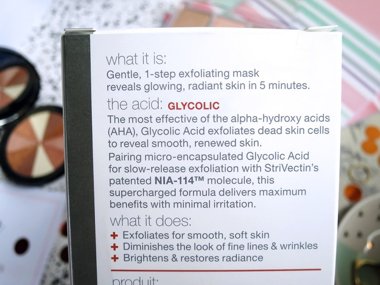 StriVectin Glycolic Acid Face Mask