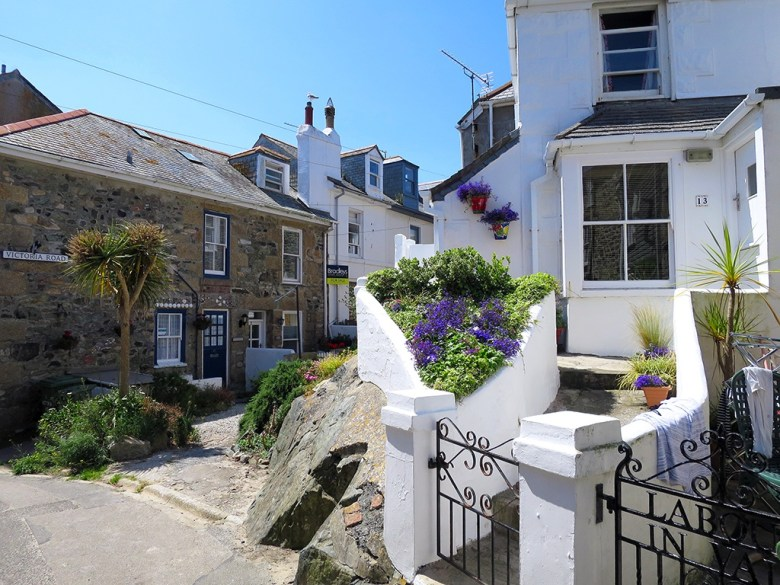 White Washed Cottages St Ives Cornwall