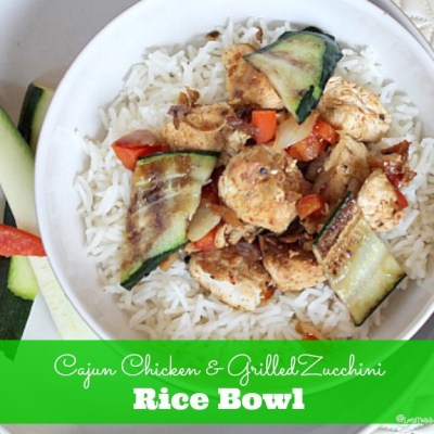 Cajun Chicken & Grilled Zucchini Rice Bowl Recipe