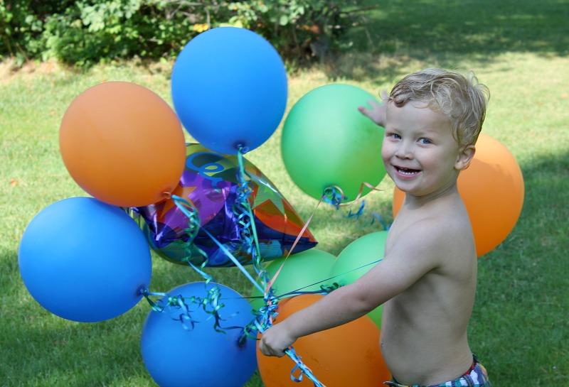birthday balloons portrait