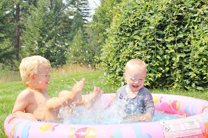 kiddy pool swimming