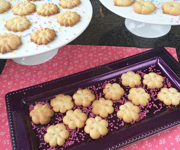 Sugar Cookie Recipe with my Oxo Cookie Press