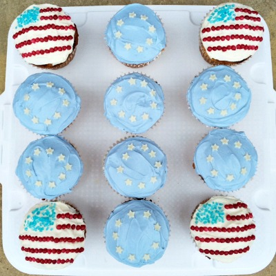 Ryder Cup cupcakes
