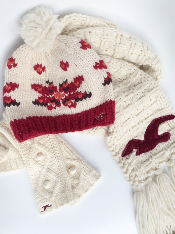 Winter Hollister Hat, Gloves, and Scarf  Set Little Things