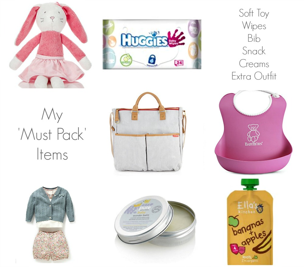 Baby Essential Must Pack Items changing bag