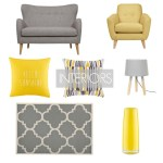 Interiors Contemporary Armchairs Living Rooms Yellow and Grey Decor