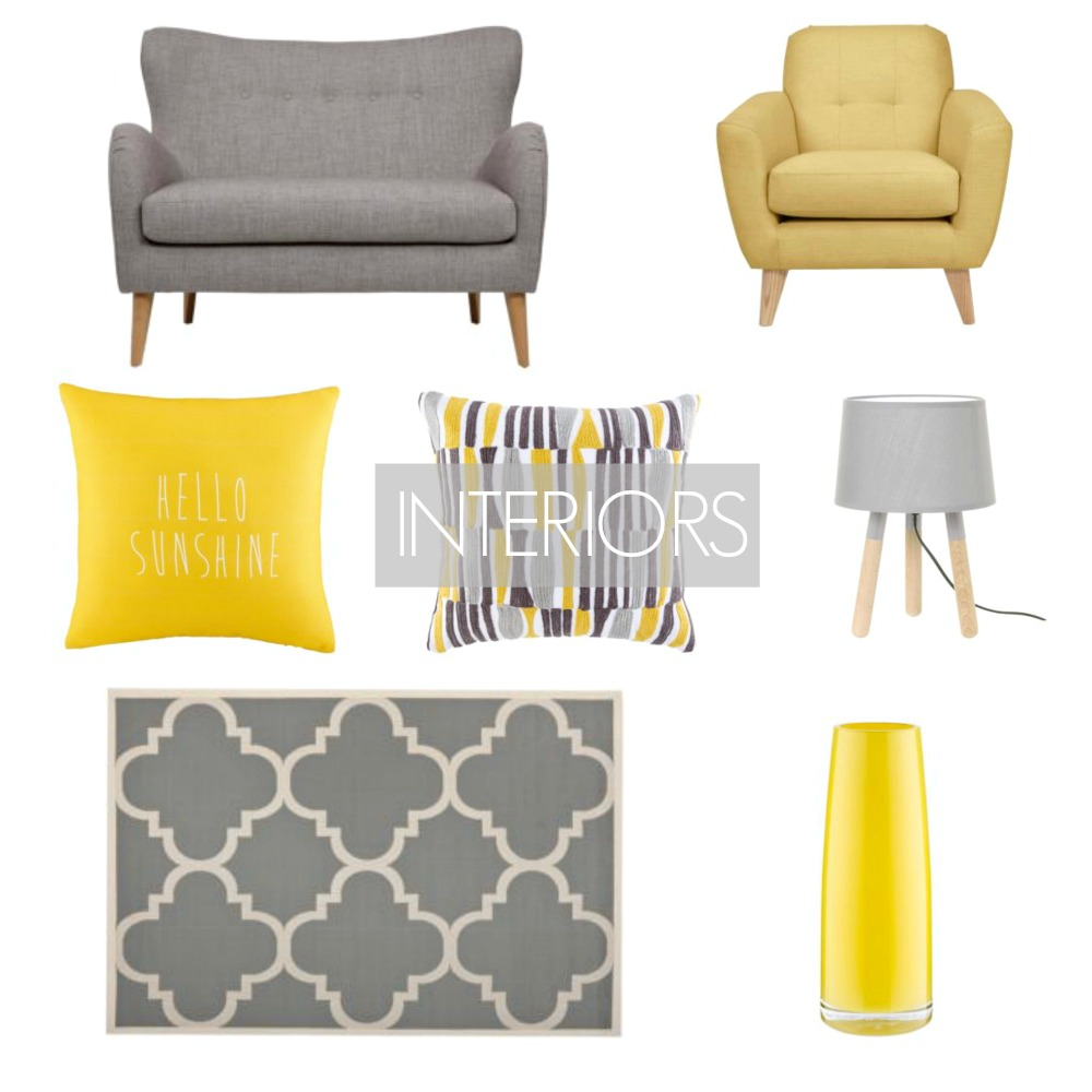 Interiors Contemporary Living Rooms Yellow and Grey Decor