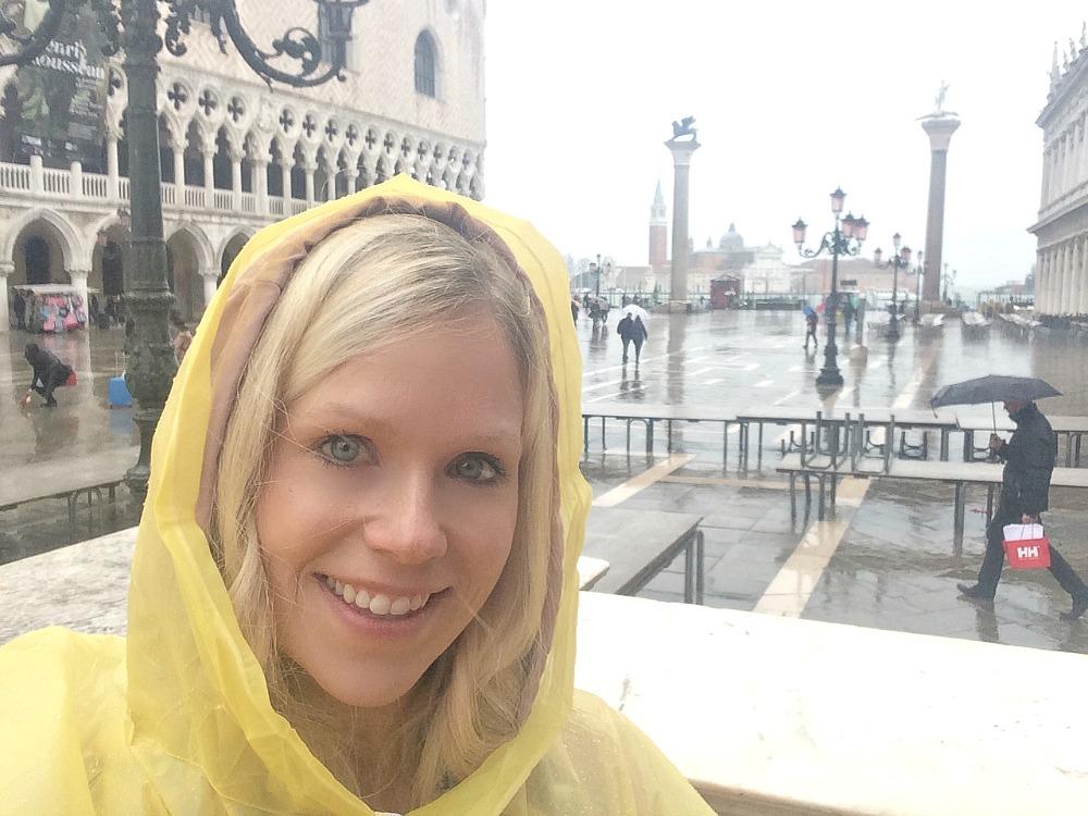 Venice rain and ponchos traveling #littleloves