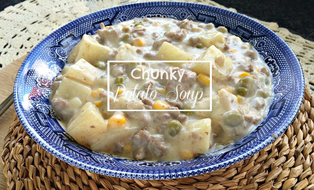 Chunky Potato Soup recipe and white roux sauce oxo good grips frypan