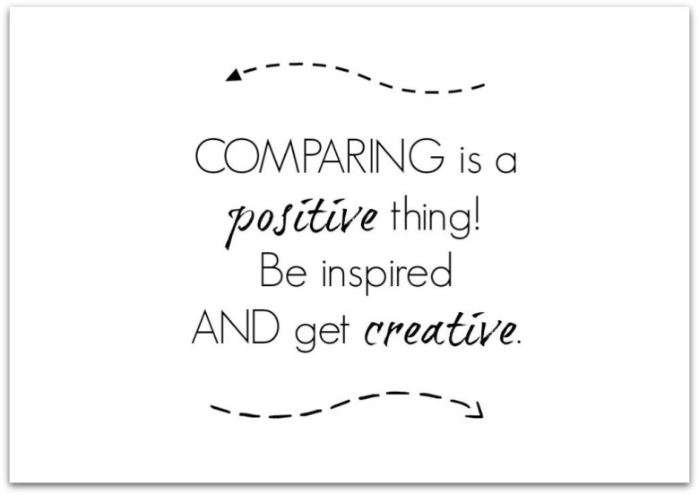 Bloggers inspire me be inspired and get creative quote