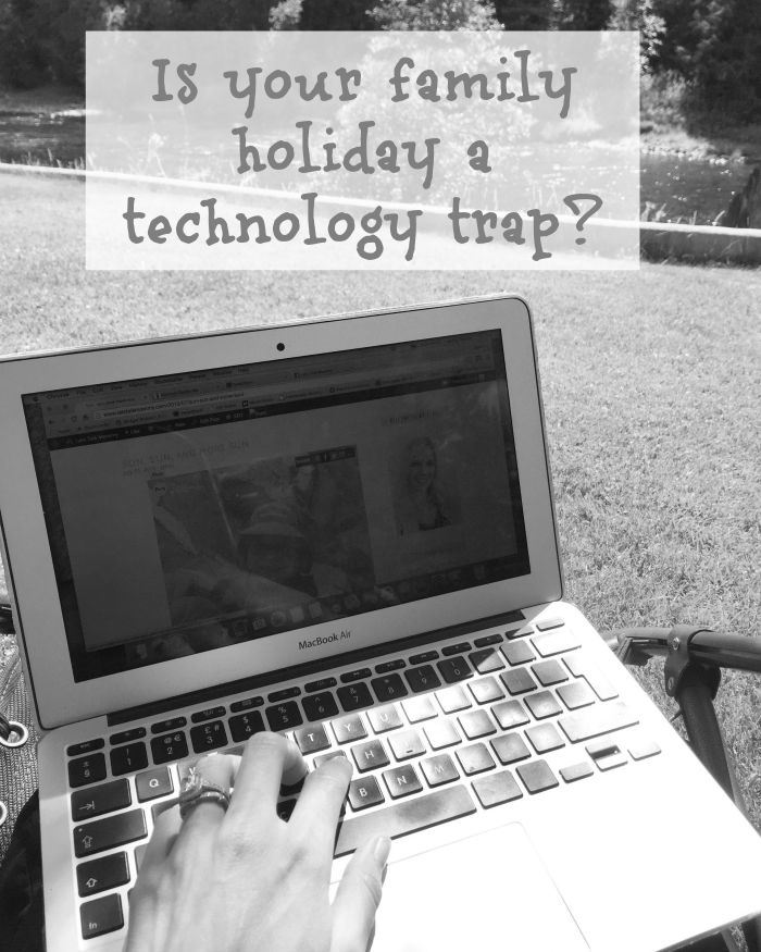 Is your family holiday a technology trap? centre parcs inforgraphic quiz