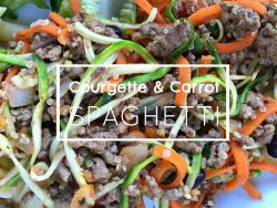 Courgette & Carrot Spaghetti Recipe healthy eating