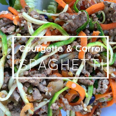 Courgette & Carrot Spaghetti // Recipe