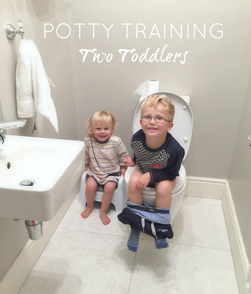 Potty Training Tips for Two Toddlers