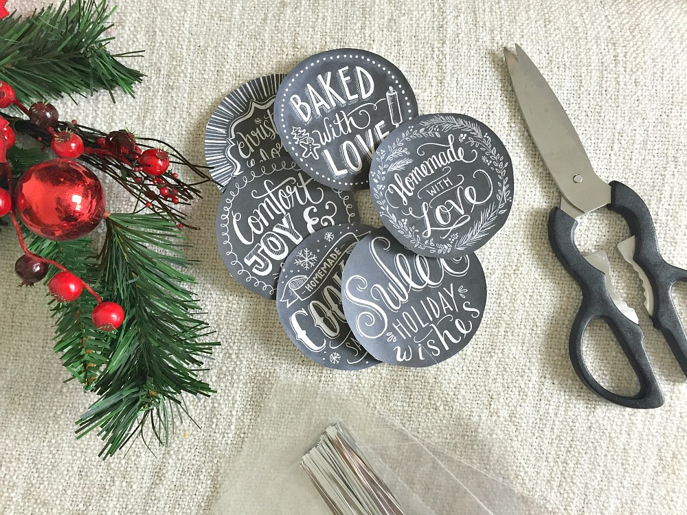 holiday chalkboard labels