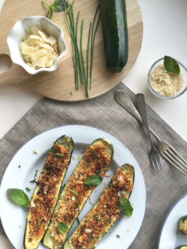 Parmesan Stuffed Courgette Recipe zucchini