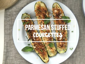 Parmesan Stuffed Courgette Recipe zucchini